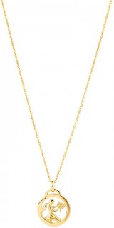 Zodiac-Pendant-with-Chain-in-10ct-Yelow-Gold on sale