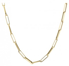 45cm-Hollow-Rectangular-Link-Chain-in-10ct-Yellow-Gold on sale