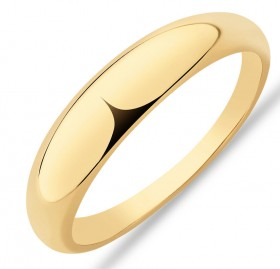 NEW-Narrow-Polished-Dome-Ring-in-10ct-Yellow-Gold on sale