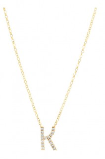 NEW-Initial-Necklace-with-010-Carat-TW-of-Diamonds-in-10ct-Yellow-Gold on sale