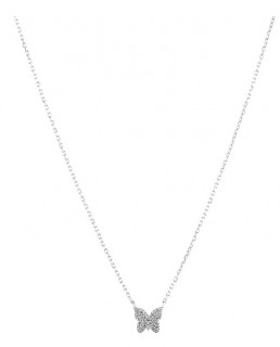 NEW-Butterfly-Necklace-with-Diamonds-in-Sterling-Silver on sale