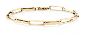 Paperclip-Bracelet-in-10ct-Yellow-Gold on sale