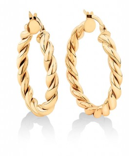 NEW-20mm-Braid-Twist-Hoop-in-10ct-Yellow-Gold on sale
