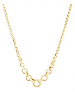 NEW-45cm-17-Graduated-Belcher-Chain-in-10ct-Yellow-Gold on sale