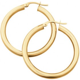 NEW-25mm-Hoop-Earrings-in-10ct-Yellow-Gold on sale