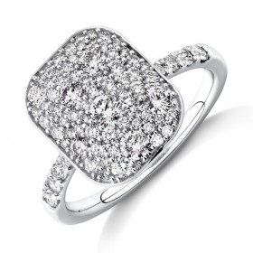 NEW-Pave-Ring-with-1-Carat-TW-of-Diamonds-in-14ct-White-Gold on sale