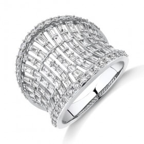 NEW-Concave-Ring-with-150-Carat-TW-of-Diamonds-in-14ct-White-Gold on sale