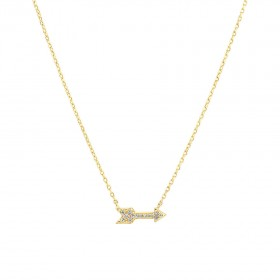 NEW-Arrow-Necklace-with-Diamonds-in-10ct-Yellow-Gold on sale