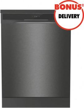 Hisense-60cm-Freestanding-Dishwasher-Black-Steel on sale