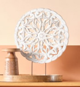 NEW-Ombre-Home-Golden-Hour-Mandala-Decorative-Ornament on sale