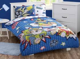 Paw-Patrol-Mighty-Pups-Blue-Quilt-Cover-Set on sale