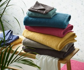 Brampton-House-Zero-Twist-Ribbed-Towel-Range on sale