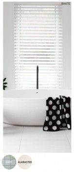 40-off-50mm-White-Faux-Wood-Venetian-Blinds on sale