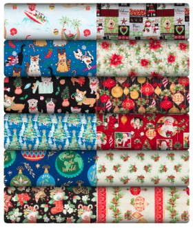 Christmas-Fabric-by-the-Metre on sale