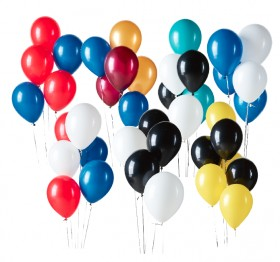 Footy-Final-20-Pre-Inflated-28cm-Plain-Latex-Balloons on sale