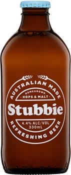 Stubbie-Refreshing-Beer-330mL on sale