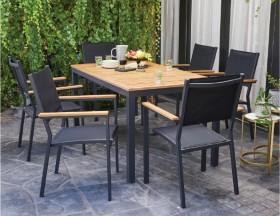 Brooklyn-6-Seater-Aluminium-Dining-Setting on sale