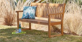 Rosemore-2-Seater-Timber-Bench on sale