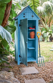 Blue-Timber-Shed on sale