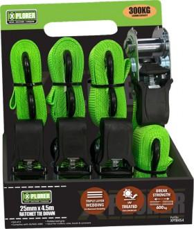 Xplorer-4-Piece-300kg-Ratchet-Tie-Down on sale