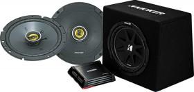 Kicker-65-CS-Series-2-Way-Coaxial-Speakers-12-Ported-Enclosure-Amp-Wiring-Kit-Pack on sale