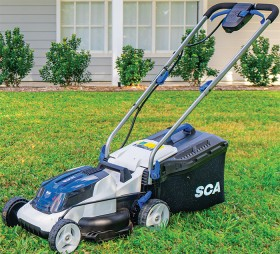 SCA-36V-Lawn-Mower on sale