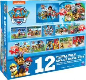 NEW-Paw-Patrol-12-Pack-Puzzles on sale