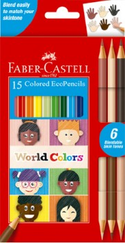 Faber-Castell-15-Pack-World-Colours-Eco-Pencils on sale