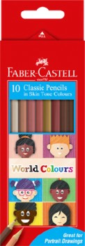 Faber-Castell-10-Pack-World-Colours-Classic-Pencils on sale