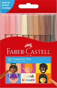 Faber-Castell-10-Pack-World-Colours-Connector-Pens on sale