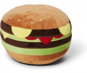 NEW-Tails-Plush-Burger-Dog-Toy on sale