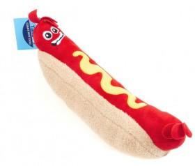 NEW-Tails-Dog-Toy-Giant-Hotdog-Plush on sale
