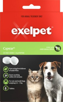 Exelpet-6-Pack-Capstar-Tablets-for-Cats-Small-Dogs on sale