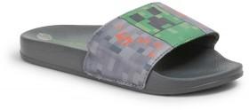 Minecraft-Kids-Printed-Slides-Grey on sale