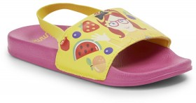 The-Wiggles-Kids-Printed-Slides-Yellow-Pink on sale
