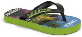 Minecraft-Kids-Thongs-Black-Green on sale