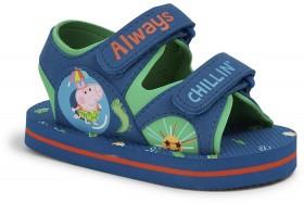 Peppa-Pig-Boys-Tab-Sandals-Blue-Green on sale