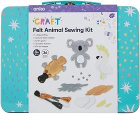 36-Piece-Felt-Animal-Sewing-Kit on sale