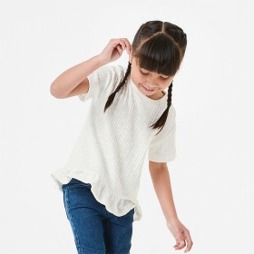 Short-Sleeve-Ribbed-Frill-T-Shirt on sale