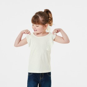 Sleeveless-Woven-Frill-T-Shirt on sale