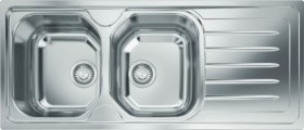 Franke-Ondaline-Double-Bowl-Right-Hand-Drainer-Sink on sale