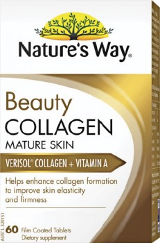 Natures-Way-Beauty-Collagen-Mature-Skin-60-Coated-Tablets on sale