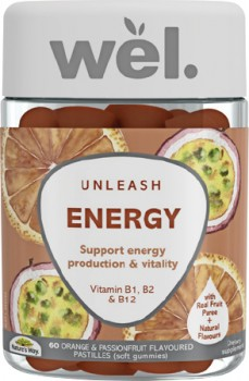 NEW-Natures-Way-Wel-Energy-60-Pastilles on sale