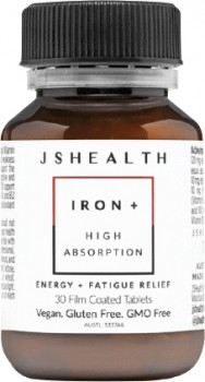 JShealth-Iron-High-Absorption-30-Film-Coated-Tablets on sale