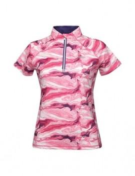 WeatherBeeta-Ruby-Prinited-Short-Sleeve-Top-Pink-Swirl-Marble-Print on sale