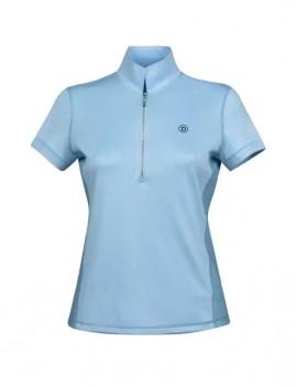 Dublin-Evelyn-14-Zip-Short-Sleeve-Technical-Airflow-Training-Polo-Sky-Blue on sale