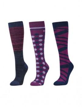 Dublin-3-Pack-Socks-Red-Violet-Ombre on sale