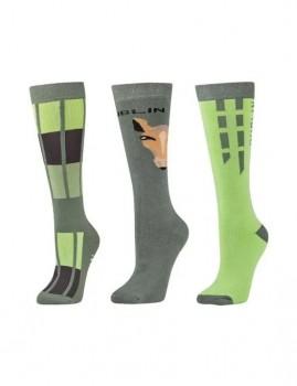 Dublin-3-Pack-Socks-Basil-Green-Horse-Face on sale