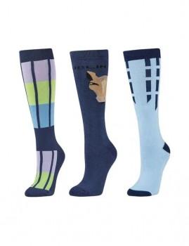 Dublin-3-Pack-Socks-Blueberry-Navy-Horse-Face on sale