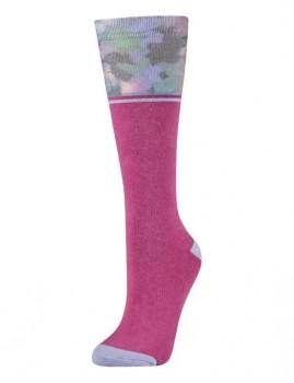 Dublin-Single-Pack-Socks-Red-Violet-Floral on sale